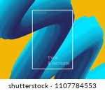 3d paint brush with vibrant... | Shutterstock .eps vector #1107784553