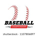 baseball ball on white... | Shutterstock .eps vector #1107806897