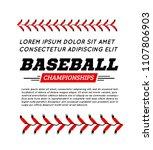 baseball ball text frame on... | Shutterstock . vector #1107806903