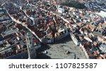 aerial bird view photo belfry...   Shutterstock . vector #1107825587