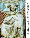 cardinal statue duomo facade... | Shutterstock . vector #1107858077