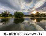 sunrise in the danube delta ... | Shutterstock . vector #1107899753