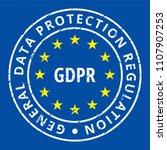eu gdpr label illustration | Shutterstock .eps vector #1107907253