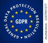 eu gdpr label illustration | Shutterstock .eps vector #1107907277