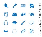 slice icon. collection of 16... | Shutterstock .eps vector #1107917723