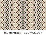 geometric folklore ornament.... | Shutterstock .eps vector #1107921077