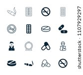 addiction icon. collection of... | Shutterstock .eps vector #1107929297