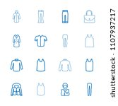 casual icon. collection of 16... | Shutterstock .eps vector #1107937217