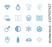 shiny icon. collection of 16...   Shutterstock .eps vector #1107937427