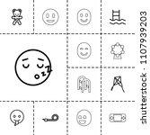 joy icon. collection of 13 joy... | Shutterstock .eps vector #1107939203