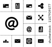 send icon. collection of 13... | Shutterstock .eps vector #1107939377