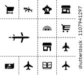 commercial icon. collection of... | Shutterstock .eps vector #1107941297