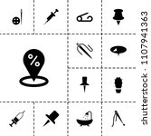 needle icon. collection of 13...   Shutterstock .eps vector #1107941363