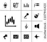 audio icon. collection of 13... | Shutterstock .eps vector #1107941423