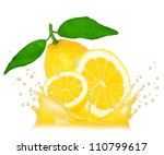 splash with lemon isolated on... | Shutterstock . vector #110799617
