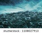 3d rendering ocean wave with...   Shutterstock . vector #1108027913
