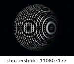 black and white computer... | Shutterstock . vector #110807177