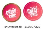 cheap   chic stickers | Shutterstock . vector #110807327