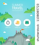 vector summer background with... | Shutterstock .eps vector #1108085723