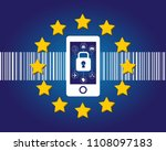 gdpr is a law that protects the ... | Shutterstock .eps vector #1108097183