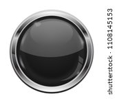 black button with chrome frame. ... | Shutterstock .eps vector #1108145153