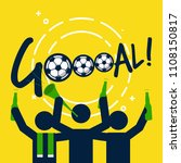 soccer or football fans with... | Shutterstock .eps vector #1108150817