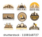 mountain vector silhouette... | Shutterstock .eps vector #1108168727