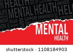 mental health words background | Shutterstock .eps vector #1108184903