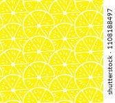abstract lemon slice seamless... | Shutterstock .eps vector #1108188497