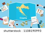 croatia economy country growth... | Shutterstock .eps vector #1108190993