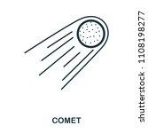 comet icon. flat style icon...