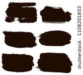black brush strokes set... | Shutterstock .eps vector #1108201853