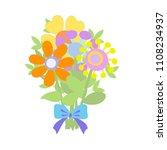 beautiful bouquet in graphic...   Shutterstock .eps vector #1108234937