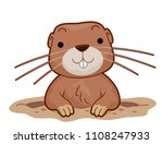 illustration of a gopher... | Shutterstock .eps vector #1108247933