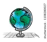 planet school supply drawing | Shutterstock .eps vector #1108280027