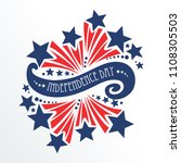 4th of july holiday . usa... | Shutterstock .eps vector #1108305503
