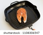 grilled salmon steaks on frying ...   Shutterstock . vector #1108306547