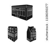 building and architecture black ... | Shutterstock .eps vector #1108350377