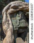 ta prohm temple at angkor wat... | Shutterstock . vector #1108351037