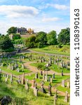 Small photo of STIRLING, SCOTLAND - AUGUST 15, 2016: Stirling Castle and the cementery of Holy Rude medieval church in Stirling Scotland