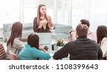 manager conducts the... | Shutterstock . vector #1108399643