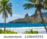 landscape with beach and... | Shutterstock . vector #1108405553