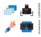 icons virtual reality with... | Shutterstock .eps vector #1108426583
