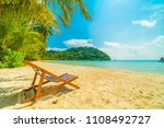 chair on the beautiful tropical ... | Shutterstock . vector #1108492727