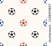 soccer ball seamless pattern... | Shutterstock .eps vector #1108493837