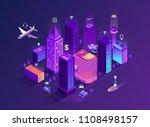 smart city isometric... | Shutterstock .eps vector #1108498157