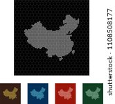 map of china   Shutterstock .eps vector #1108508177