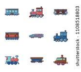 carriage icons set. cartoon set ... | Shutterstock .eps vector #1108518803