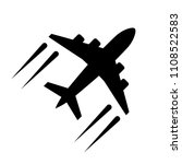 airplane icon in flat style....