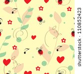 flowers seamless pattern. can... | Shutterstock .eps vector #110852423